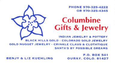 Columbine Gifts & Jewelry, Ouray, Colorado