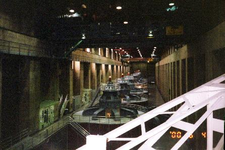 Electric generators at Hoover Dam