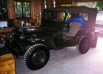 The Jeep that Bill is restoring