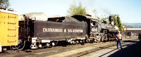 The Silverton train, in the station