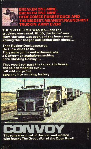Convoy novelization, back cover