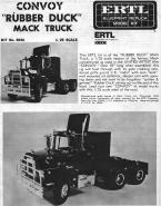 Mack Truck instructions, page 1